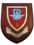 1 bn Parachute Regiment B Company Military Wall Plaque Shield